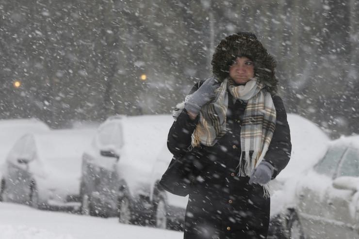 Amerika, sneg, sneža oluja
