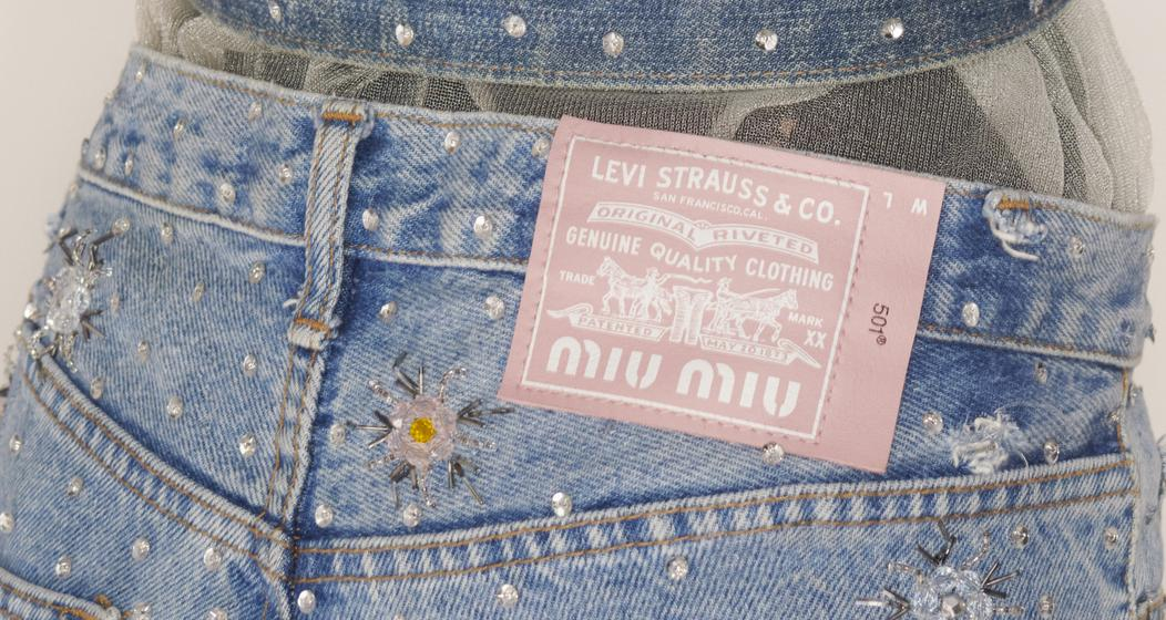 Upcycled by Miu Miu in collaboration with Levi's det 01