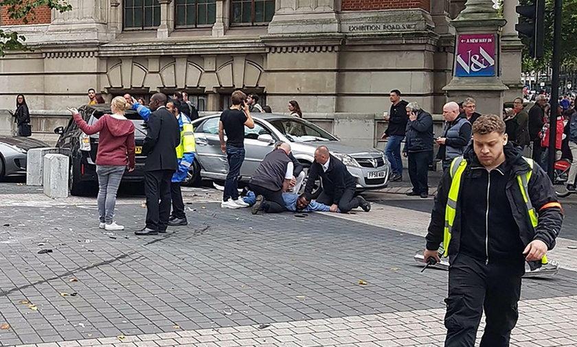 Wypadek samochodowy w Londynie