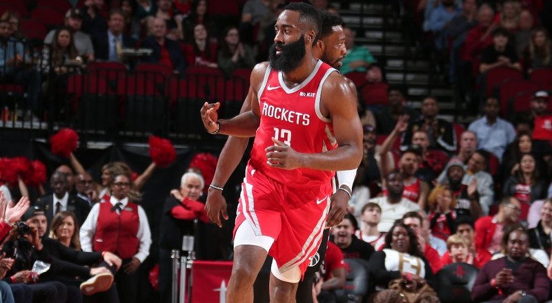 James Harden scores 35 points as Houston Rockets set new NBA record against Wizards