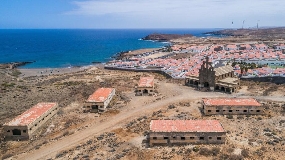 Sanatorio de Abona - miasto duchów na Teneryfie (Wyspy Kanaryjskie)