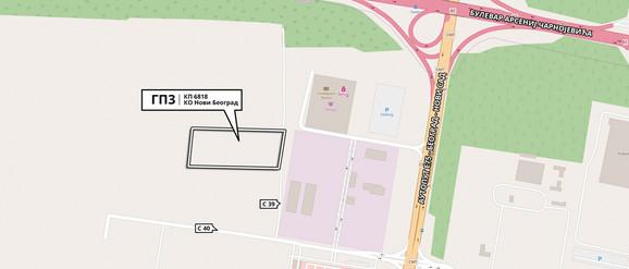 Lokacija u Bloku 53