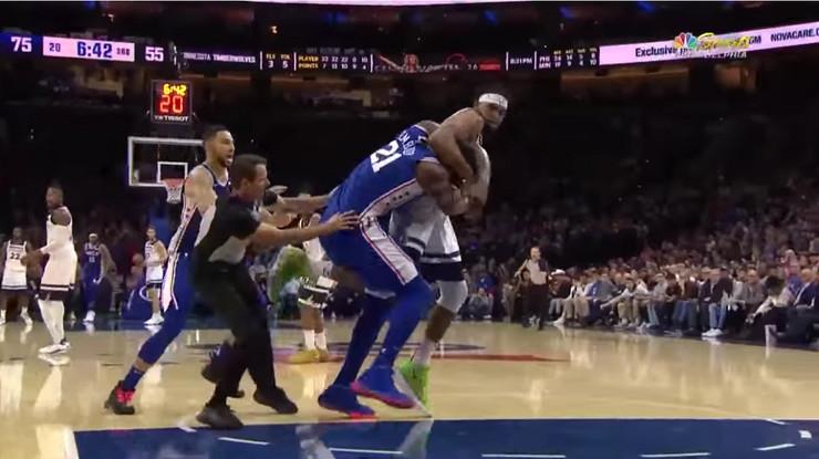 NBA tuča