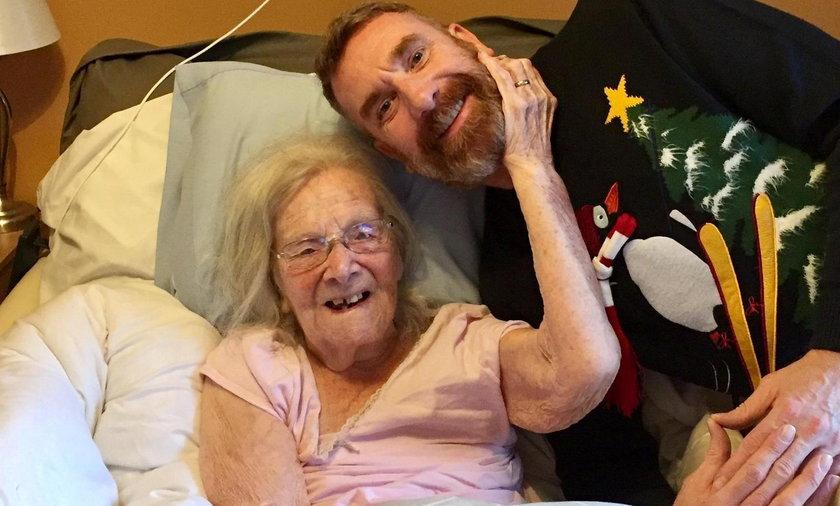 Hilda Churchill z wnukiem Anthonym