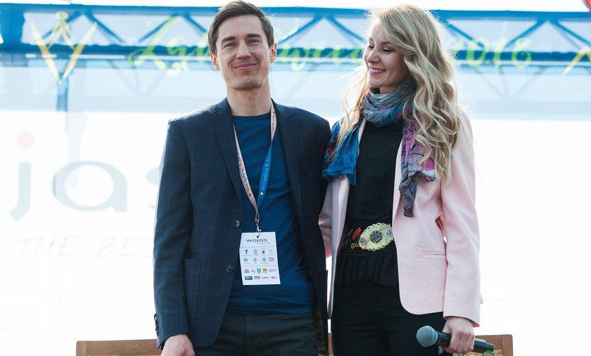 Kamil Stoch razem z żoną Ewą Bilan-Stoch.