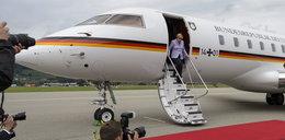Awaria samolotu Merkel. Leci gorszą maszyną