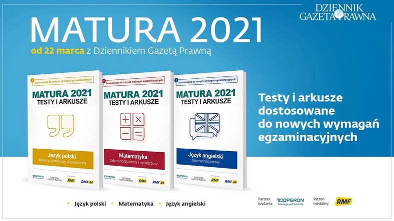 Testy i arkusze. Matura 2021
