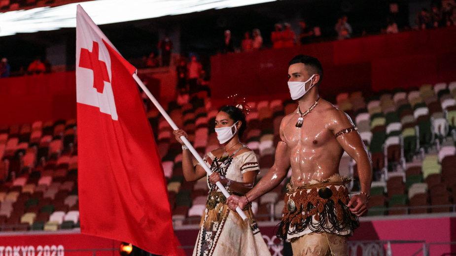 Pita Taufatofua na ceremonii otwarcia igrzysk olimpijskich w Tokio