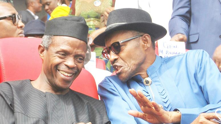 President Muhammadu Buhari (right) and Vice President Yemi Osinbajo.