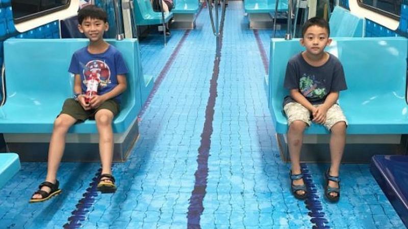 Z okazji Uniwersjady pociągi metra w Tajwanie doczekały się niezwykłej ozdoby