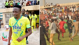 Ahmed Musa experienced the chaos of the NPFL again on Sunday (Twitter/Kano Pillars)