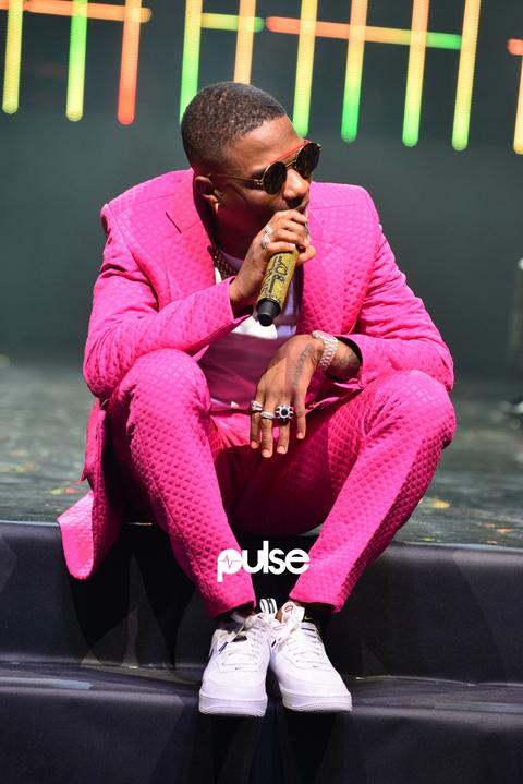 Wizkid opening the night as he performed 'Sweet Love' at his Exclusive Live concert