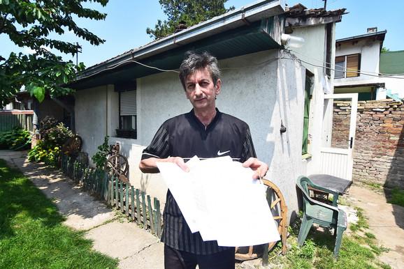 Zoran Ljubičić zbog komšije ostao bez kuće