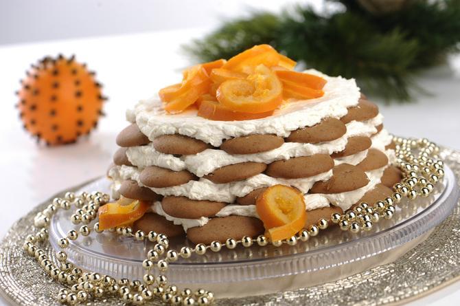 Brza torta s keksom od đumbira i likerom od pomorandže
