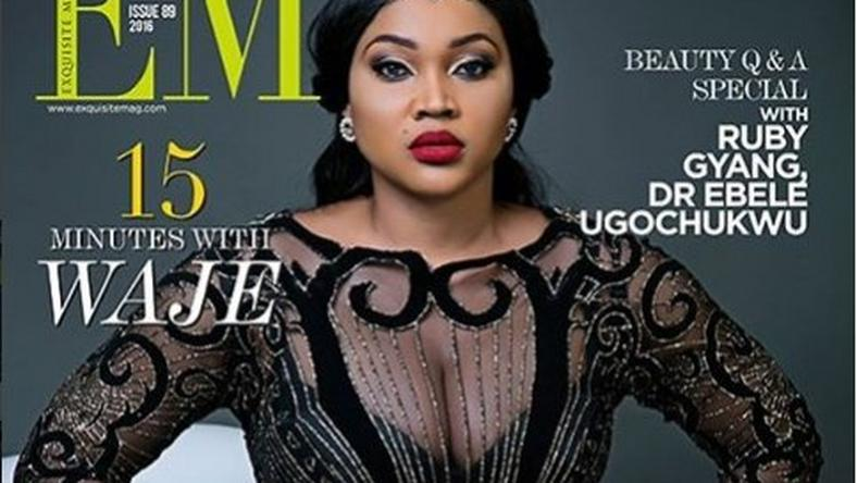 Mercy Aigbe covers the latest issue 89 0f Exquisite Magazine