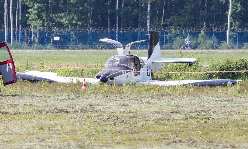 Wypadek awionetki na lotnisku w podrzeszowskiej Jasionce