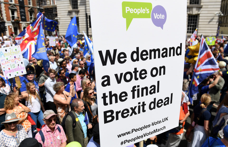 epa06834044 - BRITAIN BREXIT PEOPLES MARCH (People's March Against Brexit in London)