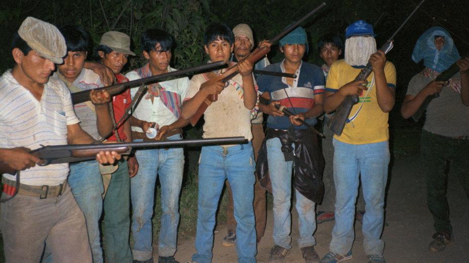 Pierwsze zdjęcie bojowników Świetlistego Szlaku. Peru, 1984 r.
