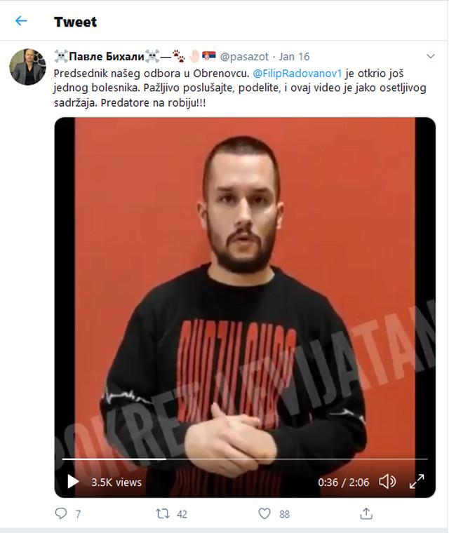Pavle Bihali kaže da nije instruisao F. R. da upadne u Prihvatni centar za migrante u Obrenovcu