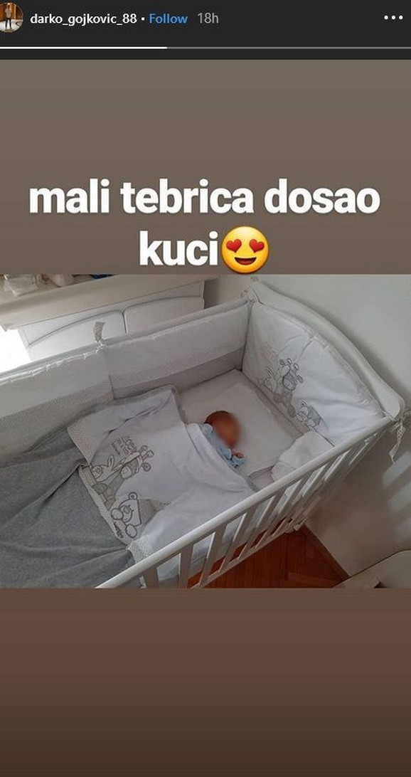 Darko Gojković objavio prvu fotografiju sina