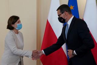 Jourova: Kontynuujemy dialog na temat praworządności z premierem Morawieckim