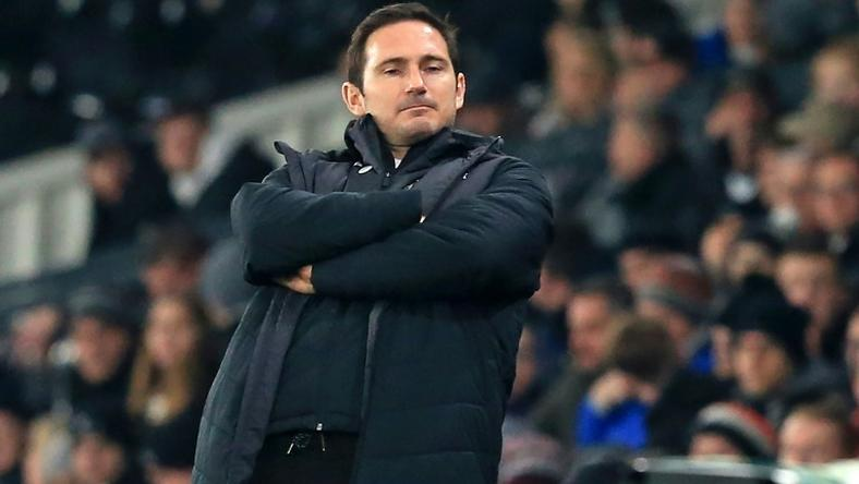"Unimpressed: A Leeds United employee was caught ""acting suspiciously"" as Frank Lampard's Derby County trained on Thursday"