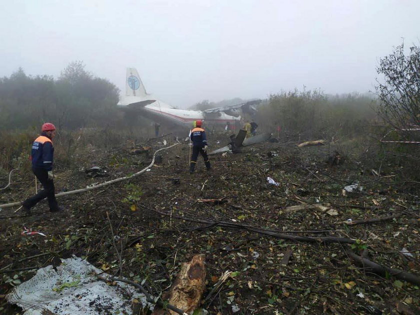 Ukraina: awaryjne lądowanie samolotu we Lwowie. Są ofiary śmiertelne