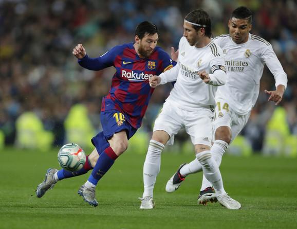 Detalj sa meča Real Madrid - Barselona
