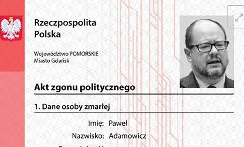 Szokujące szczegóły postanowienia o umorzeniu śledztwa ws. aktu zgonu Adamowicza