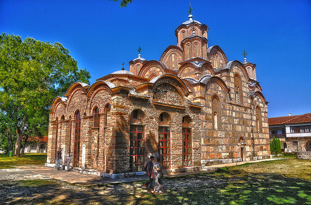 Kralj Milutin sagradio je Gračanicu 1321. godine i posvetio ju je Uspenju presvete Bogorodice