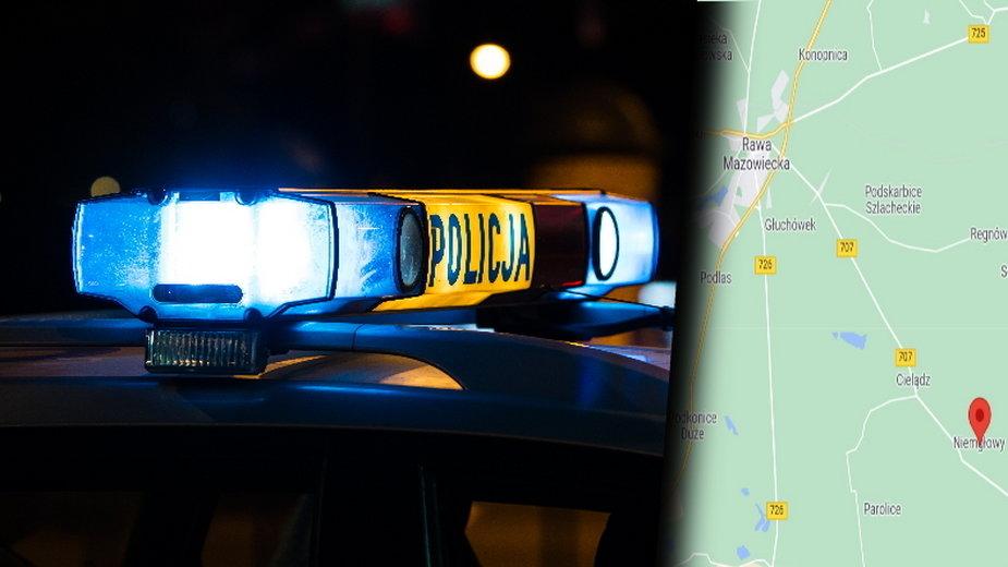 Tragedia pod Rawą Mazowiecką. Trzy osoby zginęły po zderzeniu busa z tirem