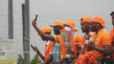 Akwa United hold trophy parade in Uyo after winning a first league title in history
