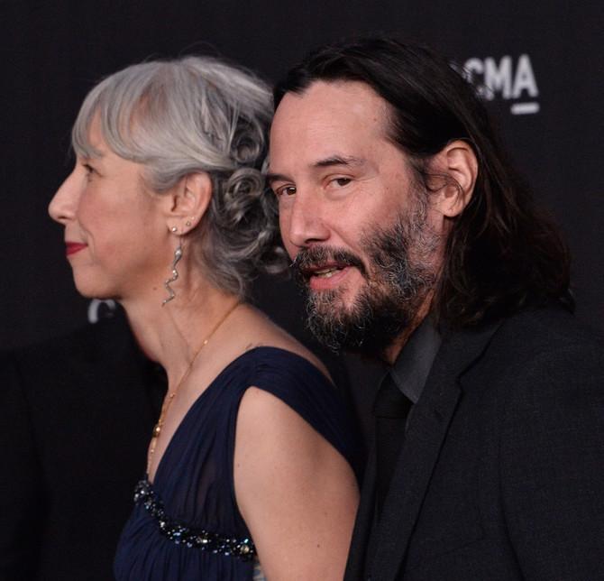 Kijanu Rivs i Aleksandra Grant  na  LACMA Art+Film gala svečanosti u Los Anđelesu