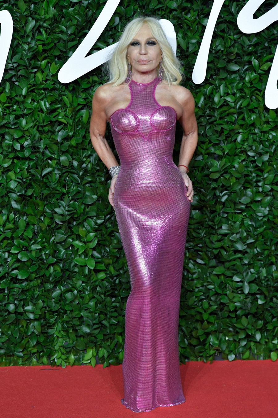Donatella Versace na Fashion Awards 2019 / Marechal Aurore / ABACA / Abaca / East News