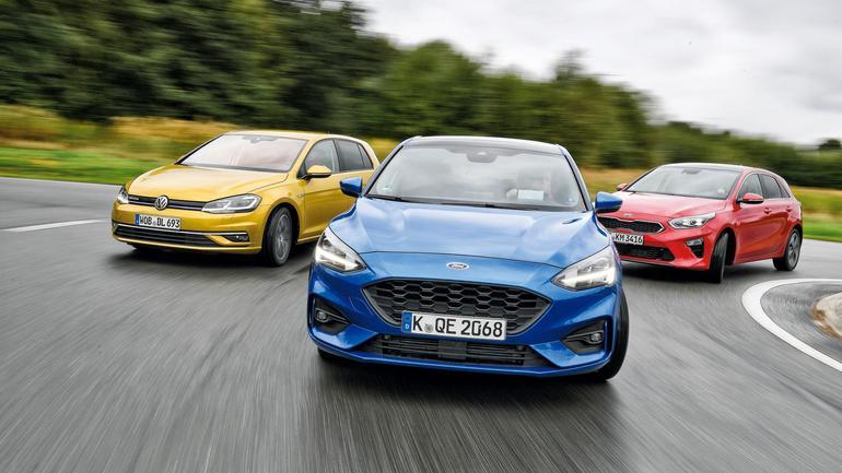 Porównanie - nowy Ford Focus, Kia Ceed i VW Golf