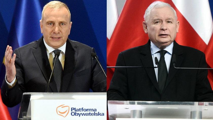 Grzegorz Schetyna kontra Jarosław Kaczyński