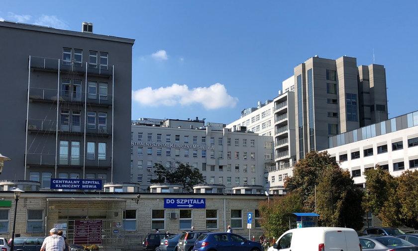 Tragiczny wieczór w Centralnym Szpitalu Klinicznym MSWiA w Warszawie.