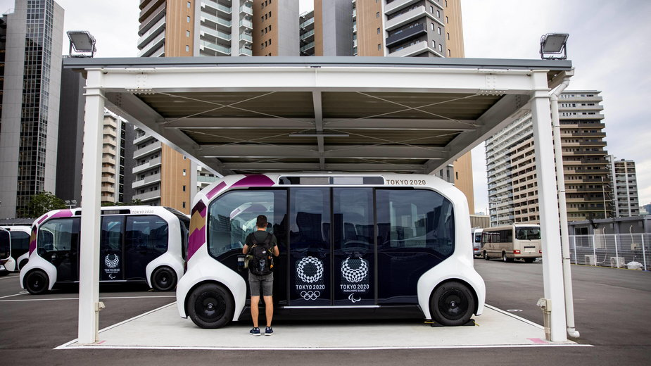 Autonomiczny autobus Toyoty. Tokio 2020