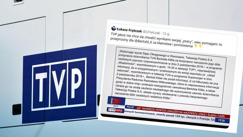 """Sprawa jest związana z materiałem Bertolda Kittela pt. """"Układ radomski"""" wyemitowanym w 2018 r. w """"Superwizjerze"""" TVN"""