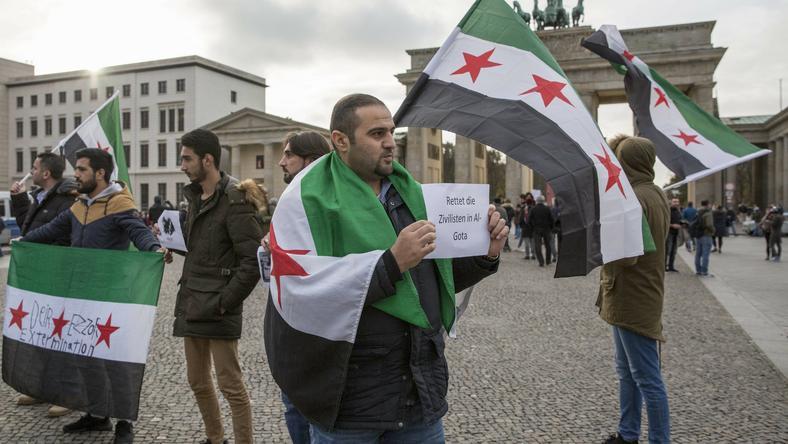Syryjscy uchodźcy w Berlinie