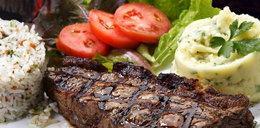 Stek z wołowiny z grillowanymi warzywami