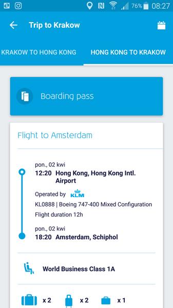 Aplikacja KLM