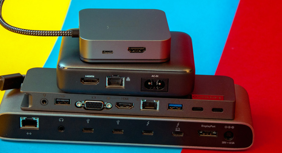 USB-C-Docks ab 30€: Bequem Monitore & Co anschließen