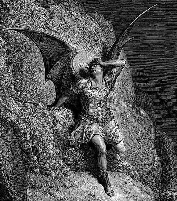 Umetnički prikaz Satane