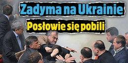 Zadyma w ukraińskim parlamencie