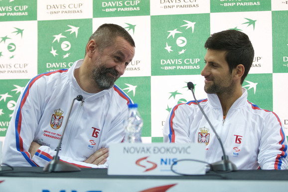 Selektor Bogdan Obradović i Novak Đoković