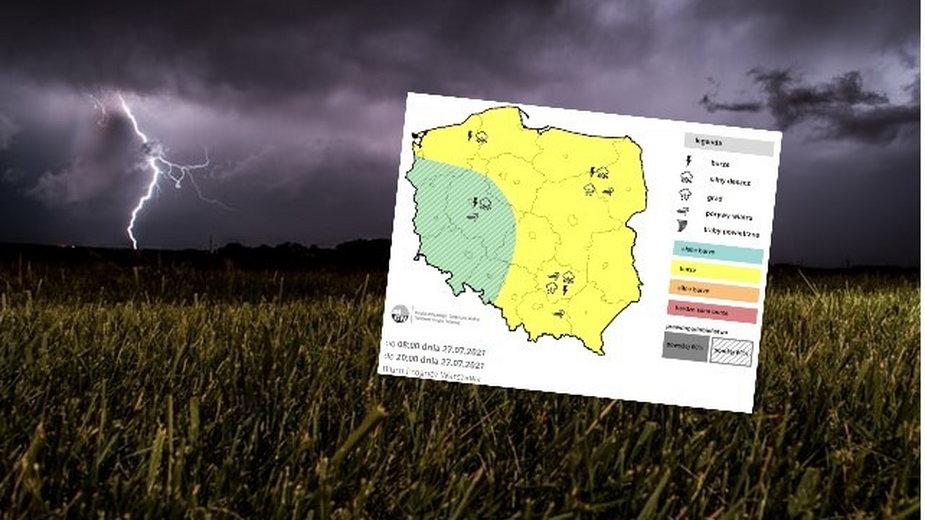 We wtorek prognozujemy następną porcję burz