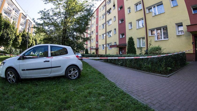 Pożar i zabójstwo na os. Piastów w Krakowie
