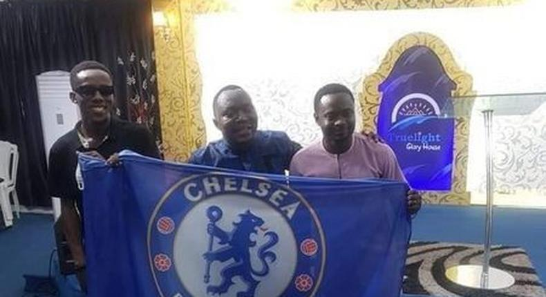 Nigerians celebrated Chelsea's Champions League title in the church  (Facebook)