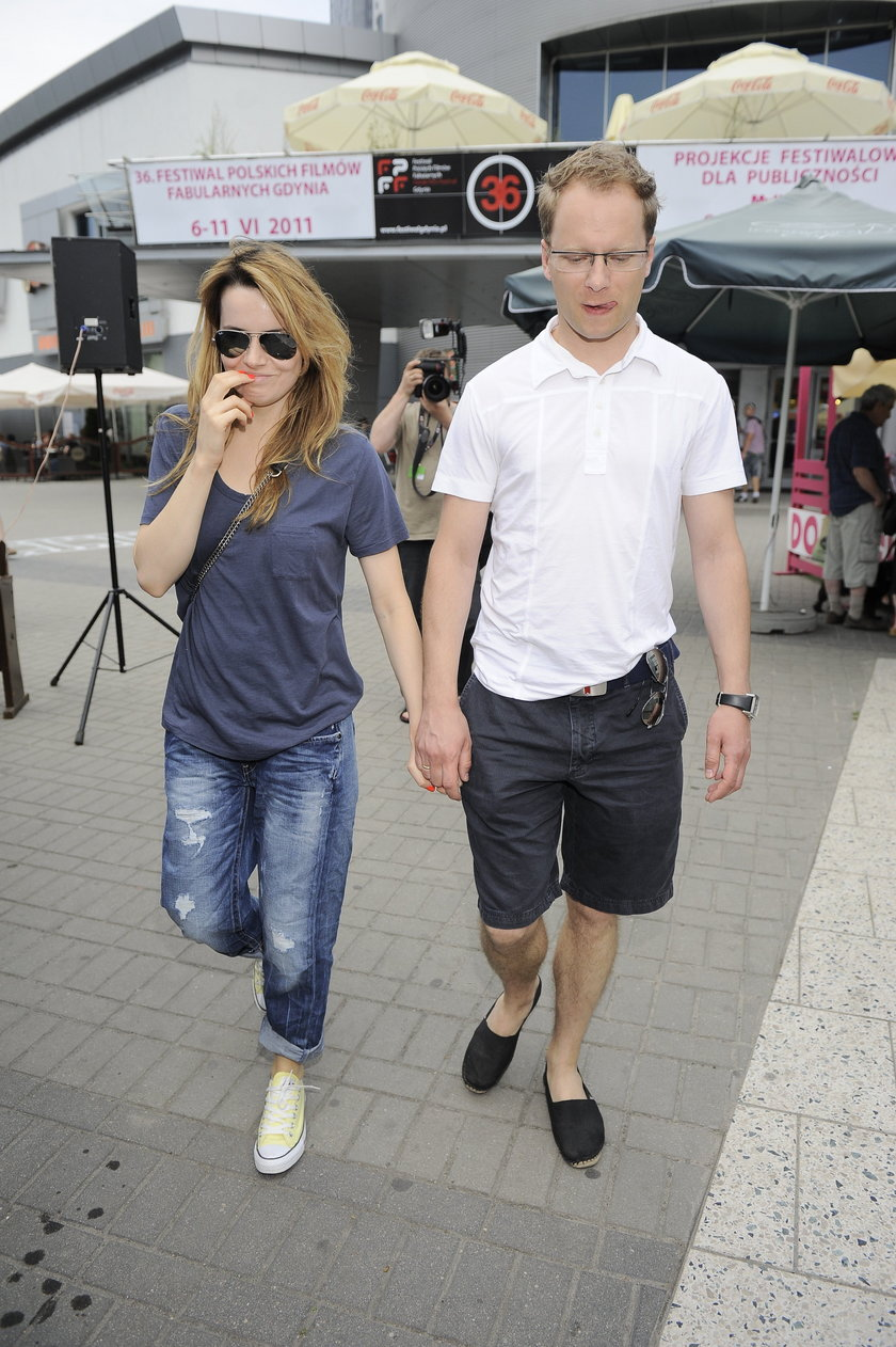 Samanta Janas i Maciej Stuhr